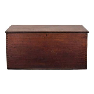 Handsome Mahogany Blanket Chest, Hand Dovetailed Corners and Lovely Color