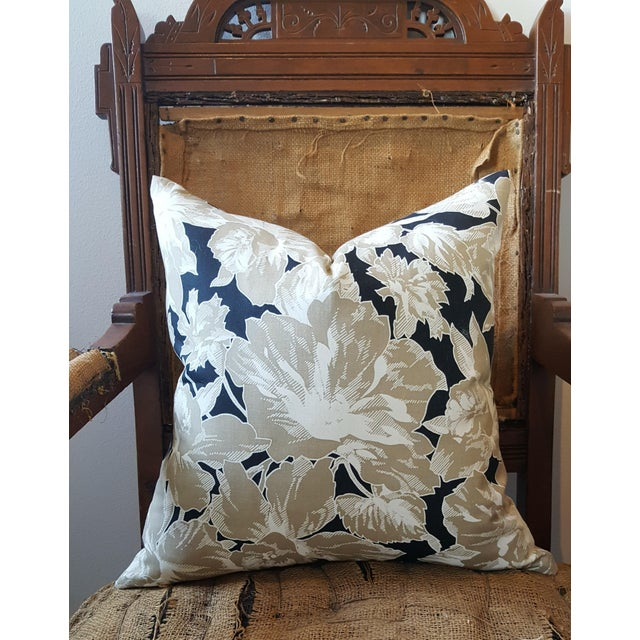 Vintage Floral Throw Pillows - A Pair - Image 4 of 5