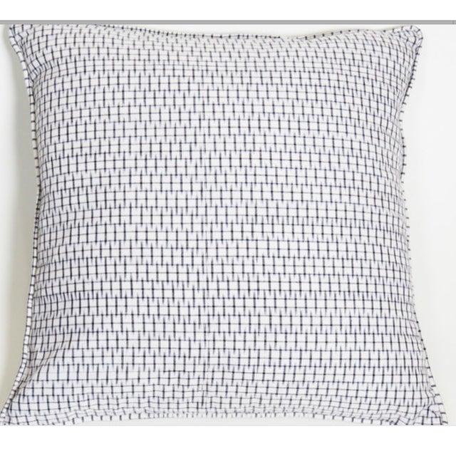 Image of Light Graphite Ikat Black Pillow Covers - Pair