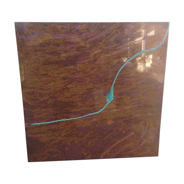 Square Contemporary Copper Art Piece. - Image 1 of 6
