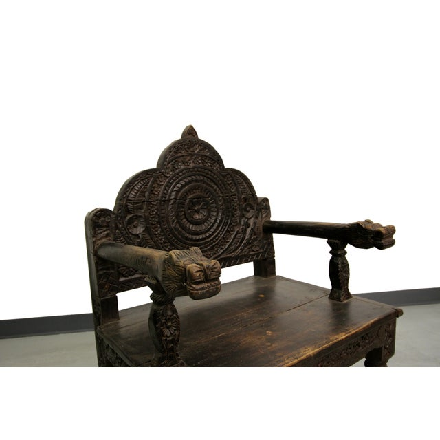 Antique Carved Wood Occasional Chairs - A Pair - Image 8 of 11