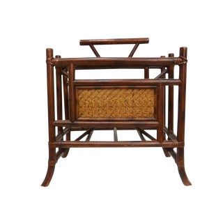 Bamboo and Cane Magazine Rack Holder
