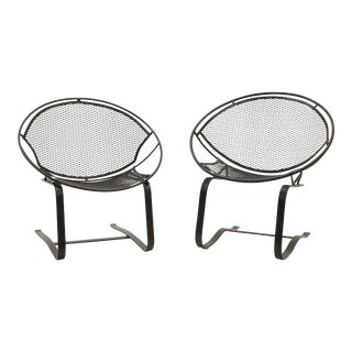 Outdoor Patio Chairs on Springer / Rocking Base, Restored