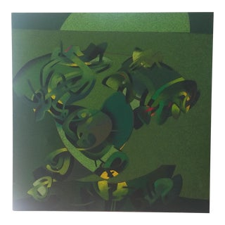 Milton Estrella-Gavidia Monumental Verde Abstract Painting
