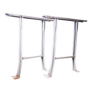 Vintage Industrial Gray Steel Table Legs