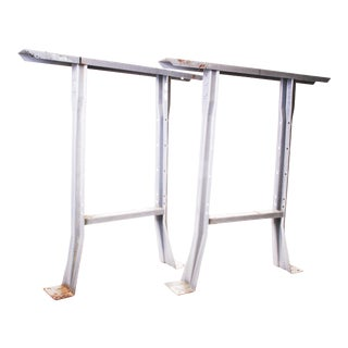 Vintage Industrial Gray Steel Table Legs