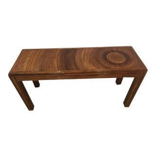 Vintage Pencil Reed Bamboo Rattan Console Table