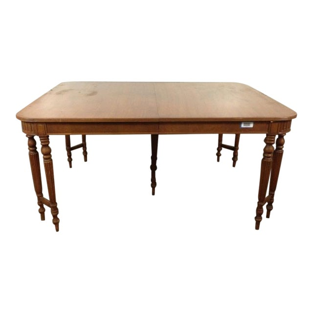 Victorian Dining Room Table: Victorian Style Carved Mahogany Dining Room Table