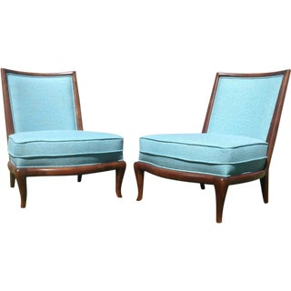 Mid-Century Style Slipper Lounge Chairs - A Pair