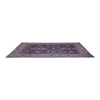 """Antique Large Persian Mahal Navy and Pink 8'4""""x11'8"""""""
