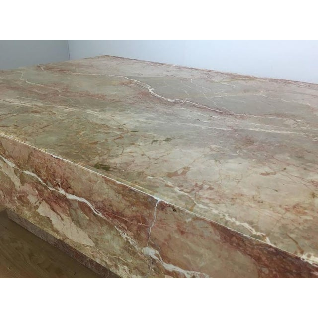 Substantial Rectangular Marble Cocktail Table - Image 6 of 7