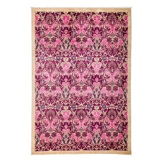 "Arts & Crafts Hand Knotted Area Rug - 6'1"" X 9'0"""