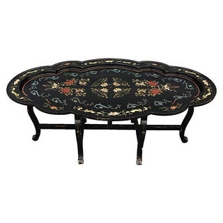 Chinoiserie Scalloped Tray Table