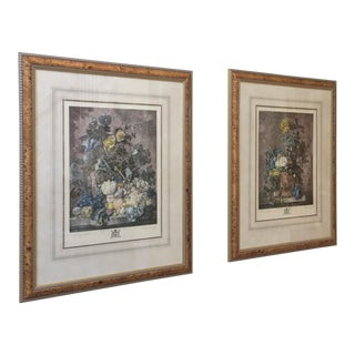 "Richard Earlom ""A Flower Piece"" & ""A Fruit Piece"" Prints - A Pair"