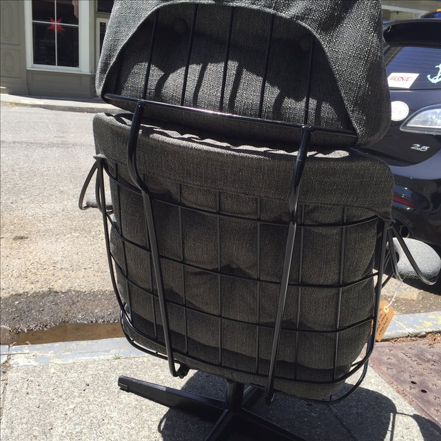 Homecrest Metal Wire Chair With Upholstery - Image 5 of 8