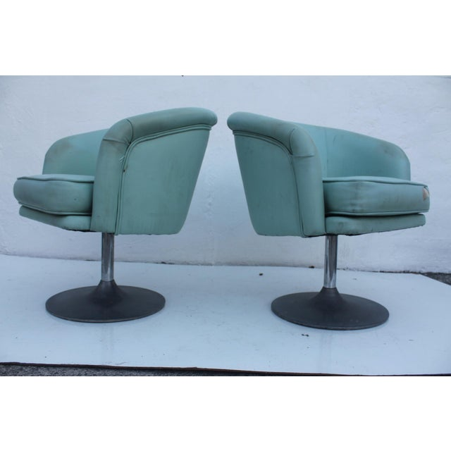 Mid Century Modern Tulip Swivel Chairs A Pair Chairish