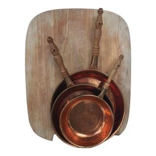 Vintage Copper Frying Pans - Set of 3