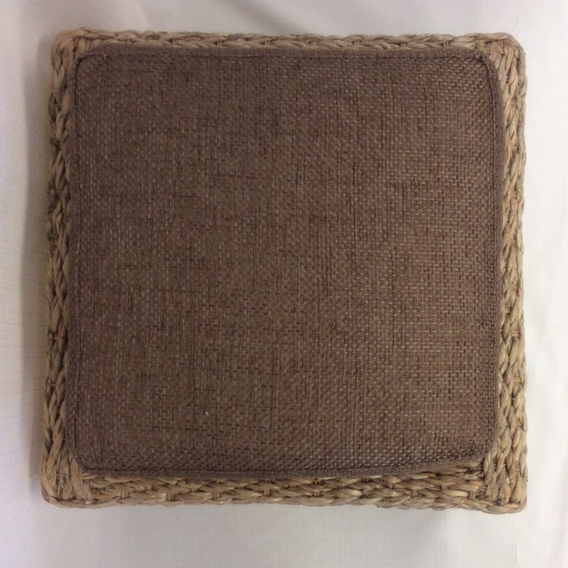 Handmade Woven Stool Mimbre Brown - Image 7 of 9
