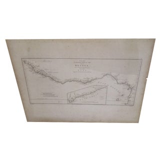 """""""Gold Coast"""", Vintage Gulf of Guinea Map"""