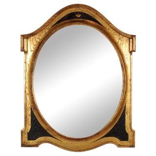 C. 1850 Antique English Shield Mirror