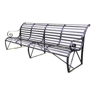 Victorian Black Iron Park Bench