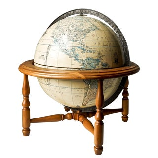 Rand McNally Terrestrial World Globe Wood Stand