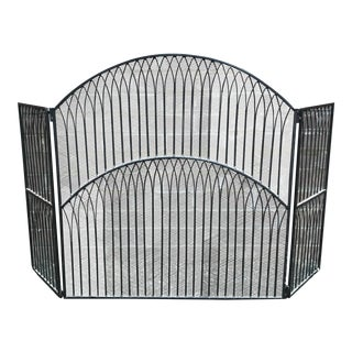 Black Iron Fireplace Screen