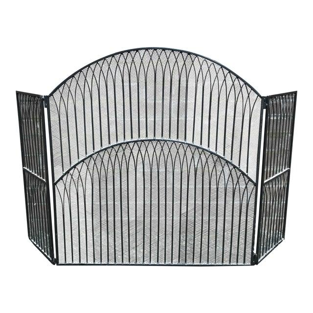 black iron fireplace screen chairish