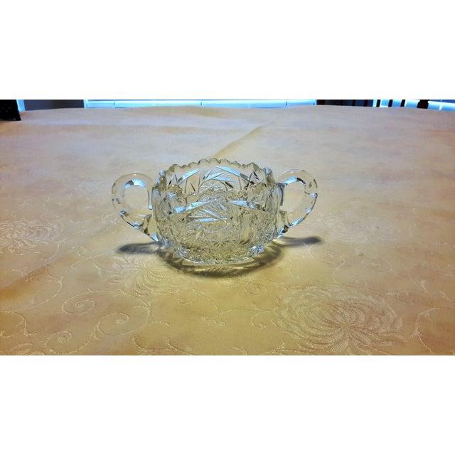 American Brilliant Period Cut Glass Sugar Dish - Image 2 of 7