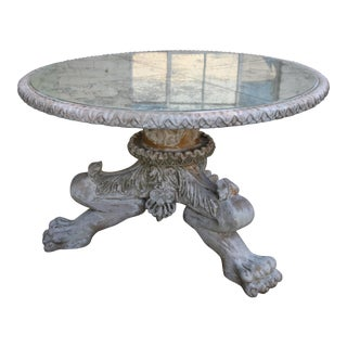 Painted Lion Paw Carved Tripod Dining/Center Table