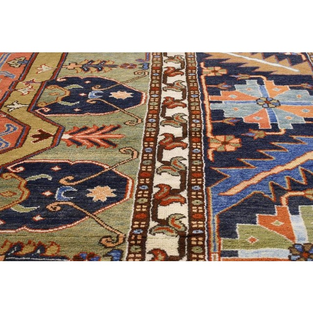 "Contemporary Persian Heriz Rug - 15' x 18'10"" - Image 6 of 9"
