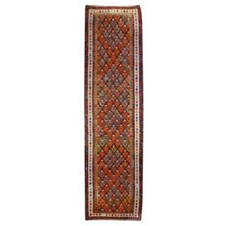 """Early 20th Century Kazvin Carpet Runner - 3'5"""" x 12'"""