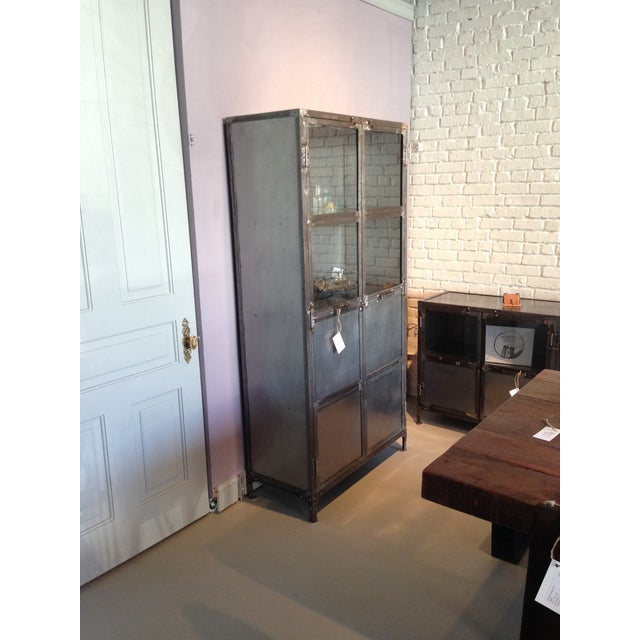 French Industrial Reclaimed Iron & Steel Cabinet - Image 3 of 3