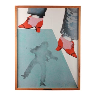 "Alberto Barrera ""Astronaut's Shoes"" Lithograph"