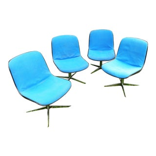 Mid-Century Modern Steel Case Chairs - Set of 4