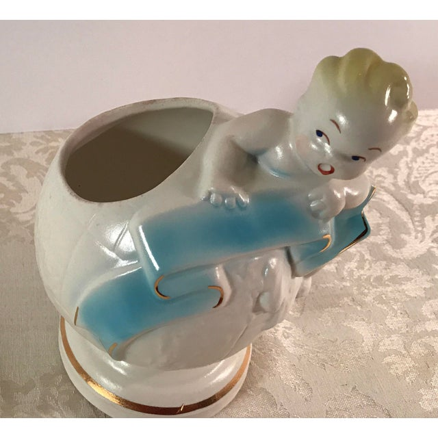 Art Deco Baby & Globe Ceramic Vase - Image 3 of 11