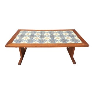 Danish Coffee Table In Ceramic And Teak