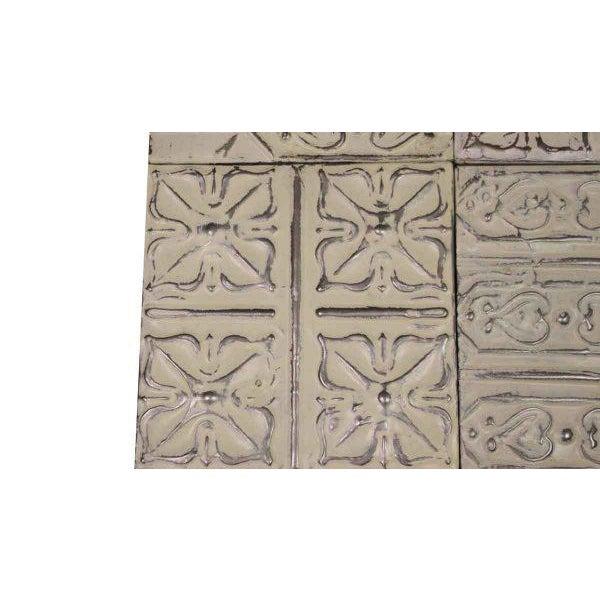 White Antique Tin Panels - Set of 4 - Image 2 of 4