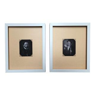 Vintage Framed Daguerreotype Prints - A Pair