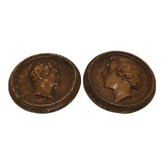 Chopin & Haendel Wall Medallions - A Pair