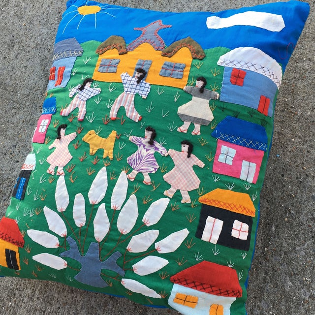 Handmade Colorful Cotton Pillow - Image 3 of 6
