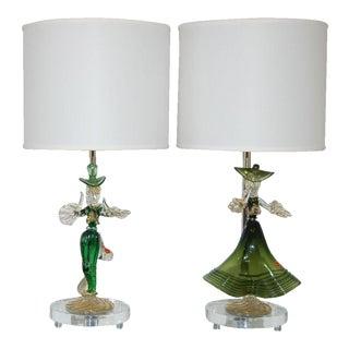 Figurines of Murano Glass in Green