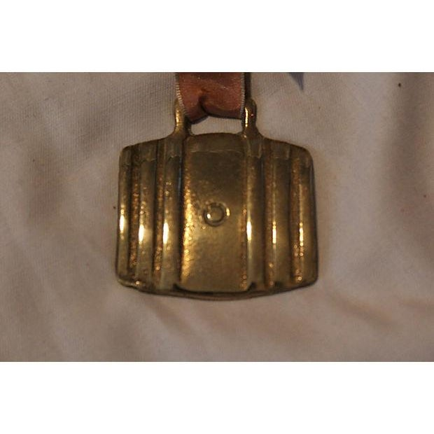 Image of Antique Beer Barrel English Brass Horse Ornament