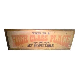 Antique 1920's Inn Sign