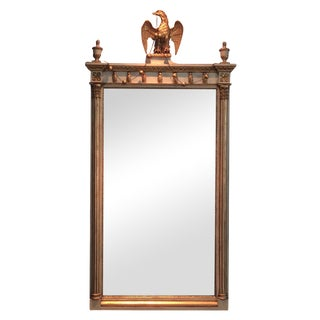 Empire Gilt Eagle Mirror with Chain