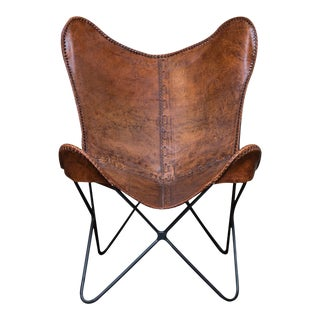 Vintage Leather Butterfly Chair