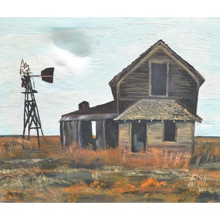 Abandoned House in Kansas Old Barn Painting