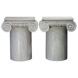 Column Pedestal Consoles - A Pair