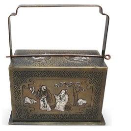 Bronze Chinoiserie 3-Tier Box