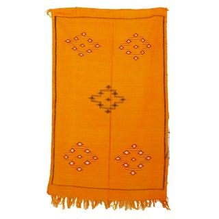 "Yellow Vintage Moroccan Cactus Silk Rug - 2'10"" x 4'8"""